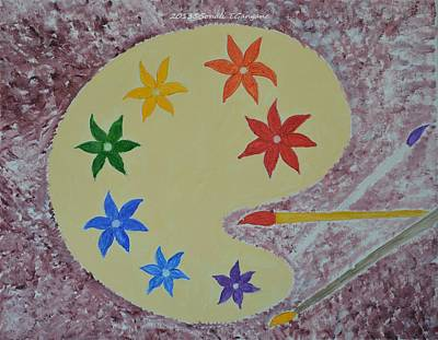Vibrancy Painting - Painted Palette by Sonali Gangane