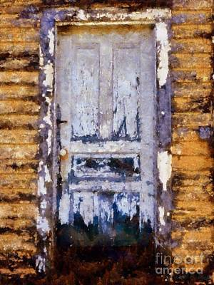 Photograph - Painted Past - Old House Door by Janine Riley
