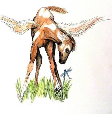 Pegasus Mixed Media - Painted Pegasus by Lorah Buchanan