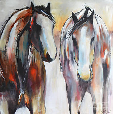 Painting - Painted Ponies by Cher Devereaux