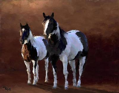 Painting - Painted Ponies by Roger D Hale