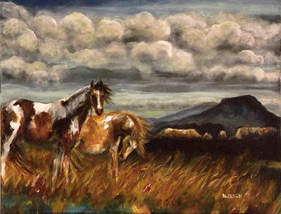 Pinto Mixed Media - Pinto Pony Mesa by Nancy Welsch
