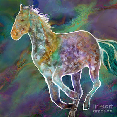 Digital Art - Painted Pony by Ursula Freer