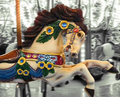 Photograph - Painted Pony With Yellow Flowers by Colleen Kammerer