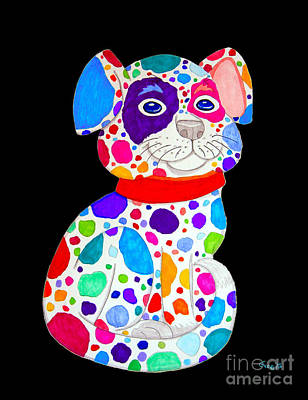 Painted Pooch 2 Art Print by Nick Gustafson