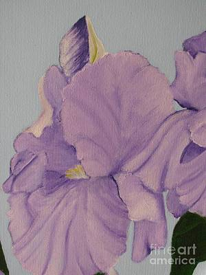 Art Print featuring the photograph Painted Purple Irises by Margaret Newcomb