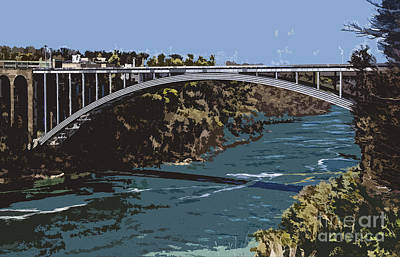 Art Print featuring the photograph Painted Rainbow Bridge by Jim Lepard