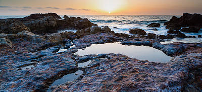 Painted Rocks At Golden Cove Art Print