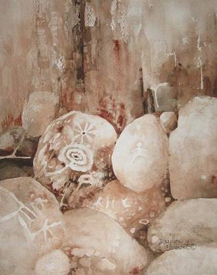Painting - Painted Rocks Ll by Marilyn  Clement