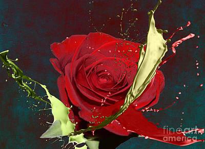 Digital Art - Painted Rose by M Montoya Alicea