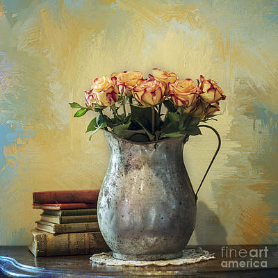 Painted Roses Art Print