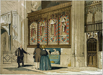 Painted Image Drawing - Painted Screen St by English School