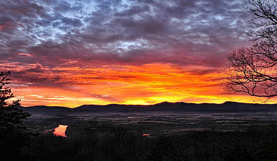 Photograph - Painted Shenandoah Sunrise by Lara Ellis