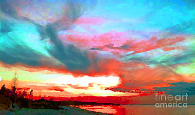 Painted Sky Art Print by Holly Martinson