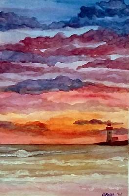 Painting - Painted Sky Over Ocean by Gerry Smith