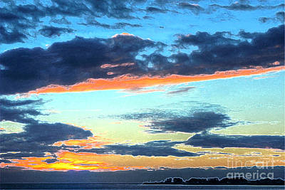 Photograph - Painted Sunset Over The Point by Morgan Wright