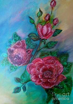 Painted The Roses Red Original by Marilyn  Sahs