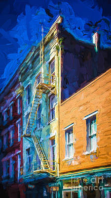 Painted Urban Street Print by Perry Webster