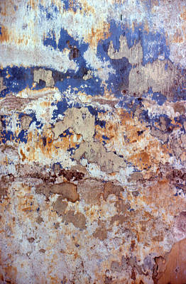 Photograph - Painted Wall Abstract by Ben Kotyuk