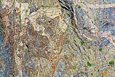 Jack Sprat Photograph - Painted Wall Abstract Three/jack Sprat And Wife In Black Canyon Of The Gunnison National Park-co by Ruth Hager