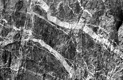 Photograph - Painted Wall Black Canyon Of The Gunnison 3 Bw by Mary Bedy