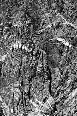 Photograph - Painted Wall Black Canyon Of The Gunnison Bw by Mary Bedy