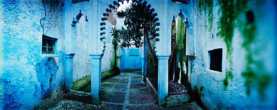 Moroccan Culture Photograph - Painted Wall Of Medina, Chefchaouen by Panoramic Images