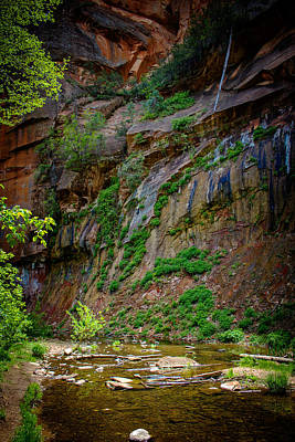 Photograph - Painted Walls Of Oak Creek No. 2 by Dave Garner