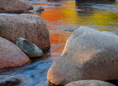 Photograph - Painted Waters - Swift River by Expressive Landscapes Fine Art Photography by Thom