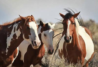 Painted Wild Horses Print by Athena Mckinzie