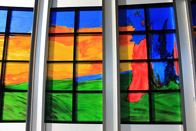 Photograph - Painted Window by Gerry Bates