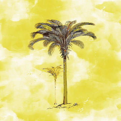 Painting - Painted Yellow Palm by Kandy Hurley