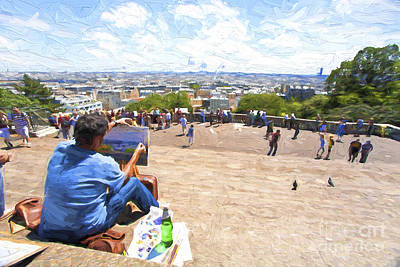 Of Painter Photograph - Painter At Montmartre In Paris by Avalon Fine Art Photography