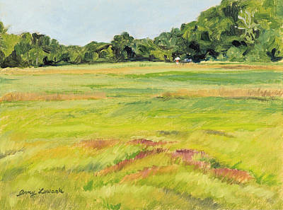 Painting - Painter In The Brinks Pasture by Amy Lewark