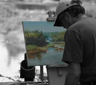 Of Painter Photograph - Painter Of The Falls by Dan Sproul