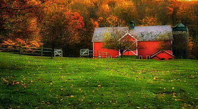 Country Scene Photograph - Autumn Dreams - Dorset Vermont by Thomas Schoeller
