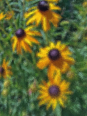 Photograph - Painterly Flowers by Bill Owen
