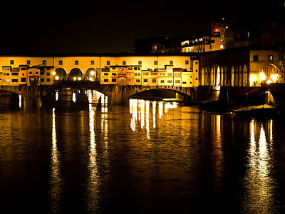 Photograph - Painterly Ponte Vecchio Firenze Florence Italy by David Coblitz