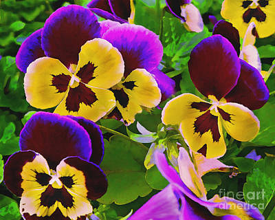 Painting - Painterly Purple Pansy by Peter Piatt