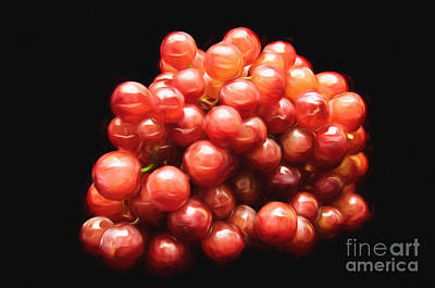 Andee Design Red Mixed Media - Painterly Red Grapes by Andee Design