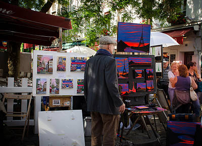Paris Skyline Royalty-Free and Rights-Managed Images - Painters at Montmartre - Paris by Dany Lison