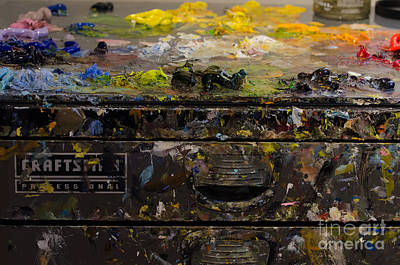 Photograph - Painters Tool Box by Dale Powell