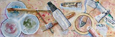 Painting - Painter's Tools by Marisa Gabetta