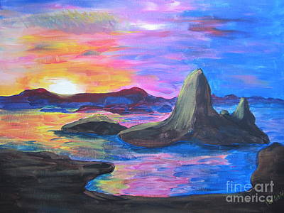 Painting     Grand Finale Art Print by Judy Via-Wolff