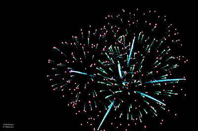 Photograph - Painting 1 Fireworks by Teresa Blanton