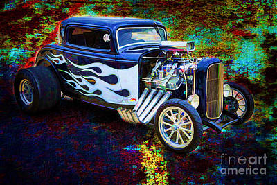 Painting - Painting 1932 Ford Highboy Automobile In Color  3124.02 by M K Miller