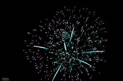 Photograph - Painting 2 Fireworks by Teresa Blanton