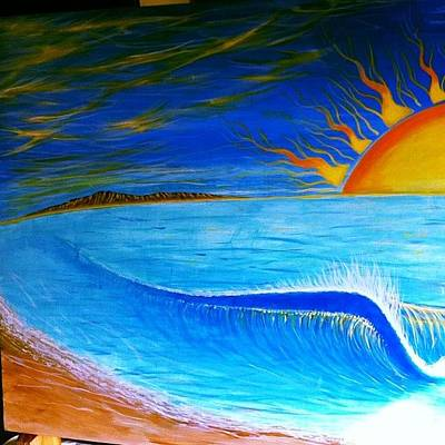 Photograph - #painting A #sunset #surf #dream On A by Paul Carter