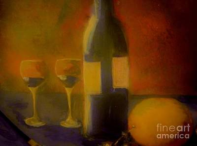 Painting And Wine Art Print
