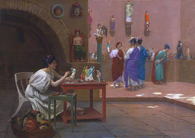 Jean-leon Gerome Painting - Painting Breathes Life Into Sculpture by Jean-Leon Gerome